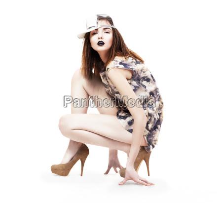 mulher belo agradavel solitario liberado moda