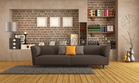 sofa moderno em uma sala de