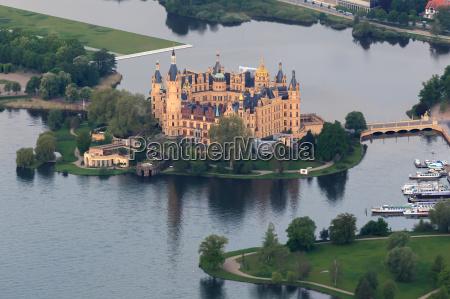 castelo schwerin como vista aerea do