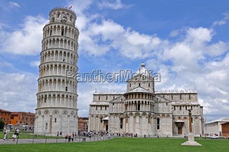 a torre de pisa e catedral