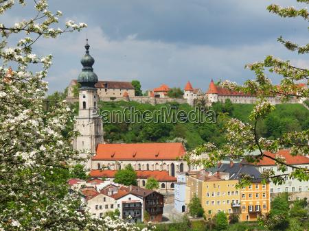 cidade velha bavaria primavera antiguidade castelo