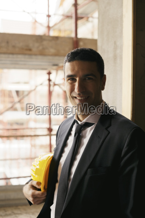 engineer with helmet in construction site