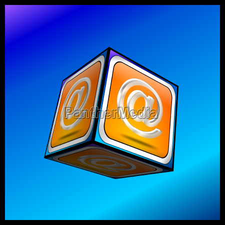 e mail button 3d