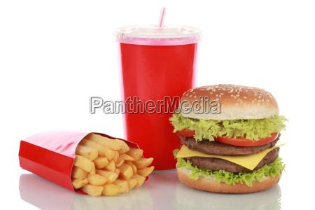 duplo combinacao cheeseburger com batatas fritas