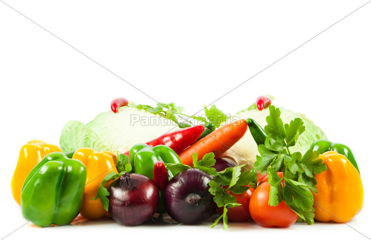 legume, fresco, isolado, no, fundo, branco. - 10045608