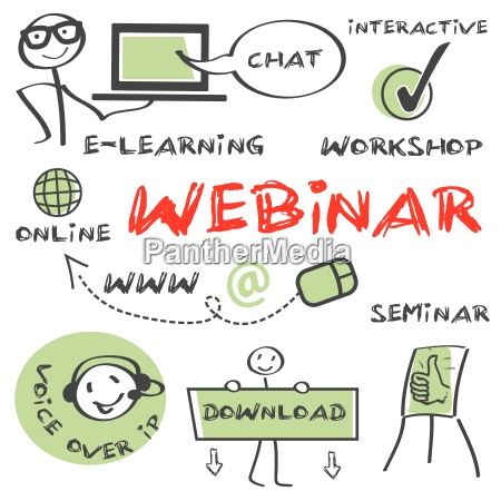 conceito, webinar, educação - 10085644