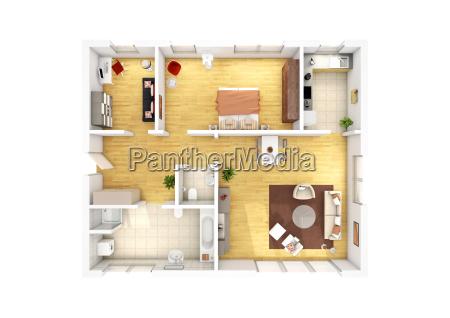 apartamento com 3 quartos piso plano