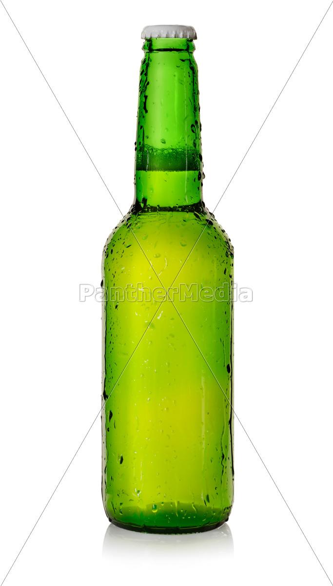 cerveja, em, uma, garrafa, verde - 10122281