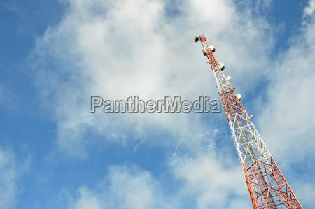 sinal telefone estacao azul torre espaco