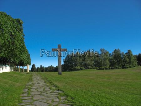 pedra ceu cruz suecia cemiterio biblia
