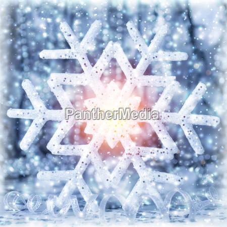 floco de neve brilhante lindo