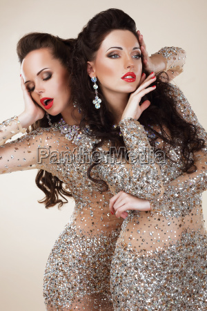 brilho glam mulheres ricas de luxo