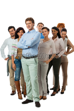 squadra giovane gruppo con persone diverse