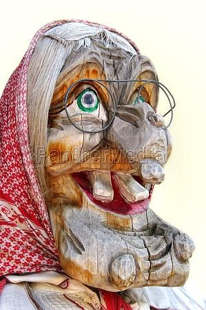 mulher ferias madeira face resina carnaval