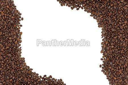 quadro de feijoes de cafe roasted