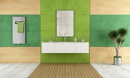 banheiro contemporaneo verde