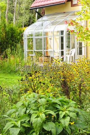 solarium and garden at home
