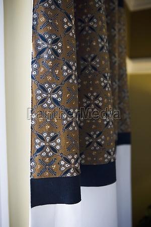 cortinas detalhe do teste padrao
