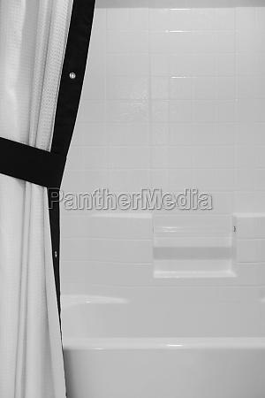 preto e branco cortina de chuveiro