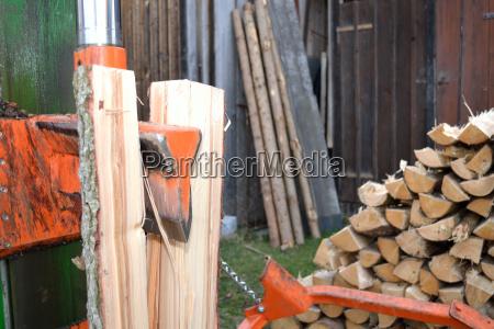 cutelo de madeira no uso
