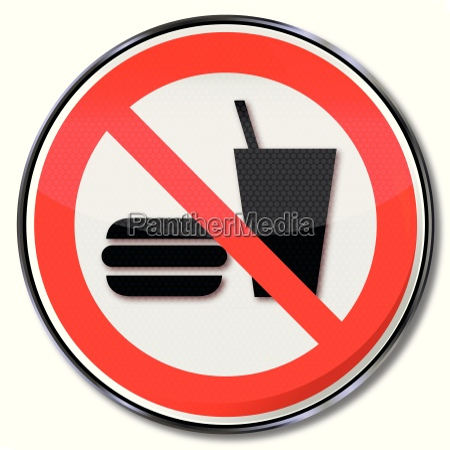 sinal da proibicao para jantar proibida