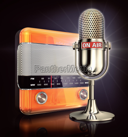 diversao musica radio radio mala microfone