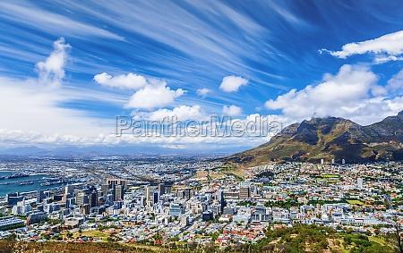 vista da cidade de cape town