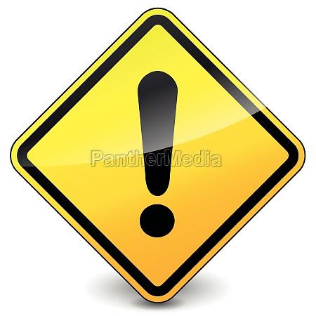 icone amarelo de exclamacao de vetor