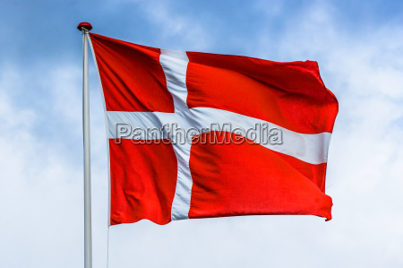 danish flag in red and white