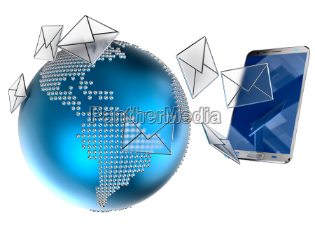 e mail ou sms enviados para