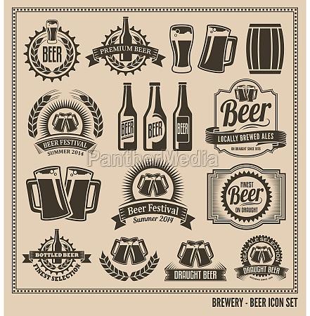 icone da cerveja ajustado etiquetas posteres