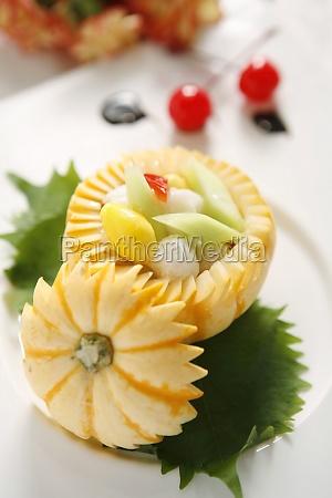 food aliment stuffed asia progenies fruits