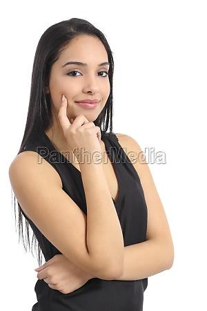 confident happy arab woman model smiling