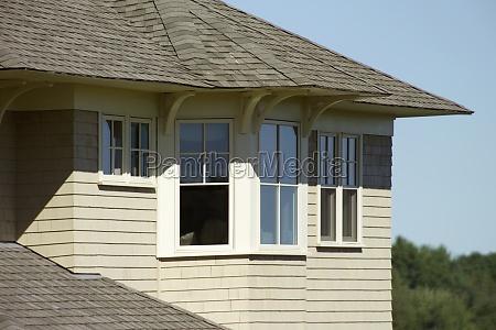 casa construcao janela horizontalmente ao ar
