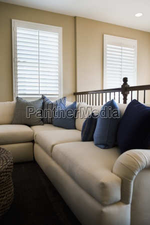 azul casa construcao mobiliario janela eua