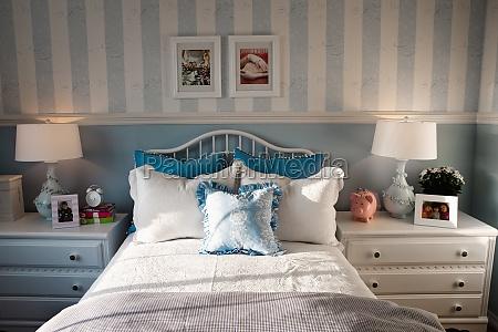 azul casa construcao relaxamento cama eua