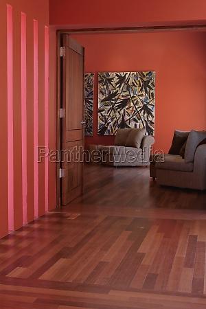 salao arquitetonicamente dentro casa edificio residencial