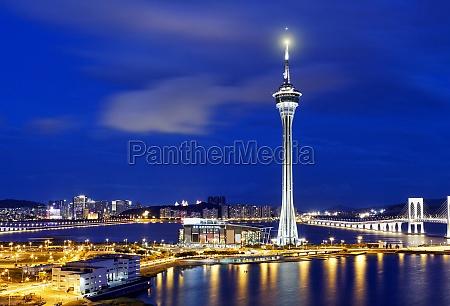 torre asia noite urbano paisagem natureza