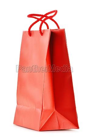 saco de compra de papel isolado