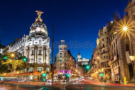 gran via in madrid spanien europa