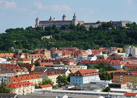 wuerzburg marienburg fortaleza e cidade baviera