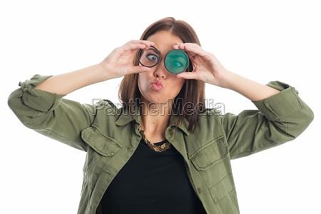 mulher engracado filtro distancia focal