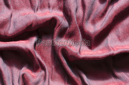 red cashmere wool with textured effect