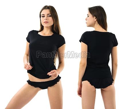 mulher sexy com a camisa e