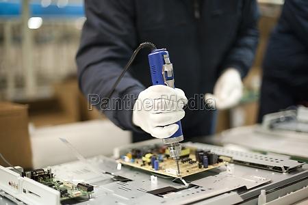 eletronica industria producao fabrica tecnologia tv