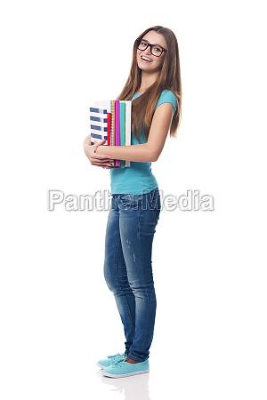 retrato, de, estudante, sorridente, e, bonita - 12110488