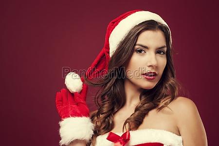 christmas sexy woman