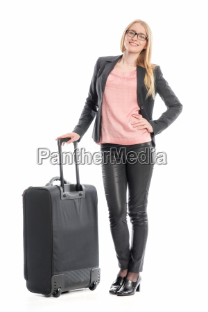 businesswoman with suitcase