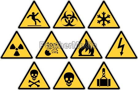 sinais de aviso