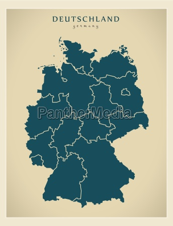 modern mapa alemanha